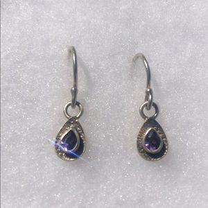 Silpada amethyst off the vine earrings